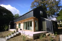 Timber and stonework eco build house